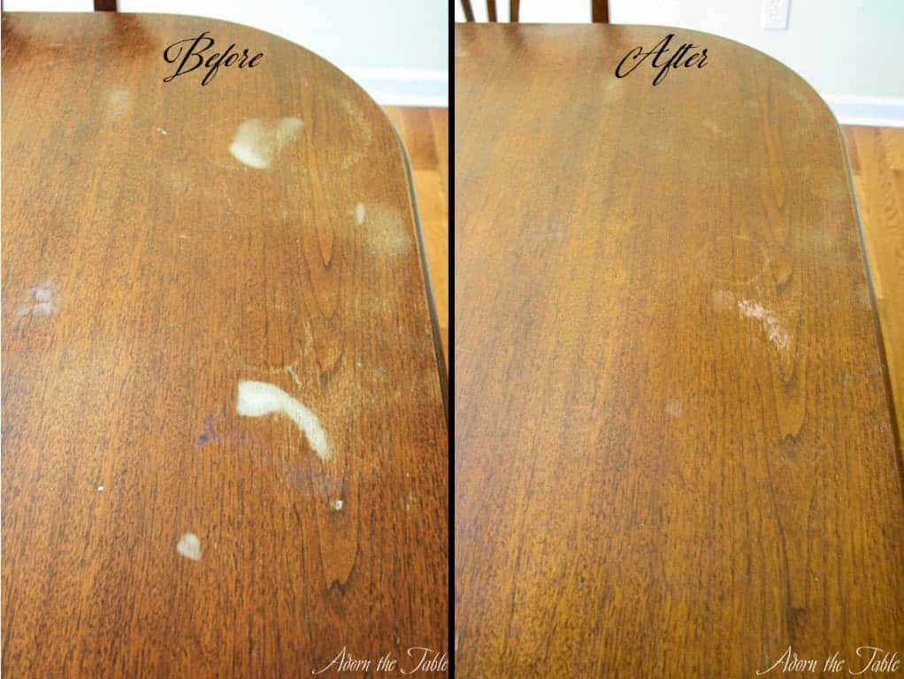How To Remove Hazy White Stains On A, Remove White Stain Wood Furniture