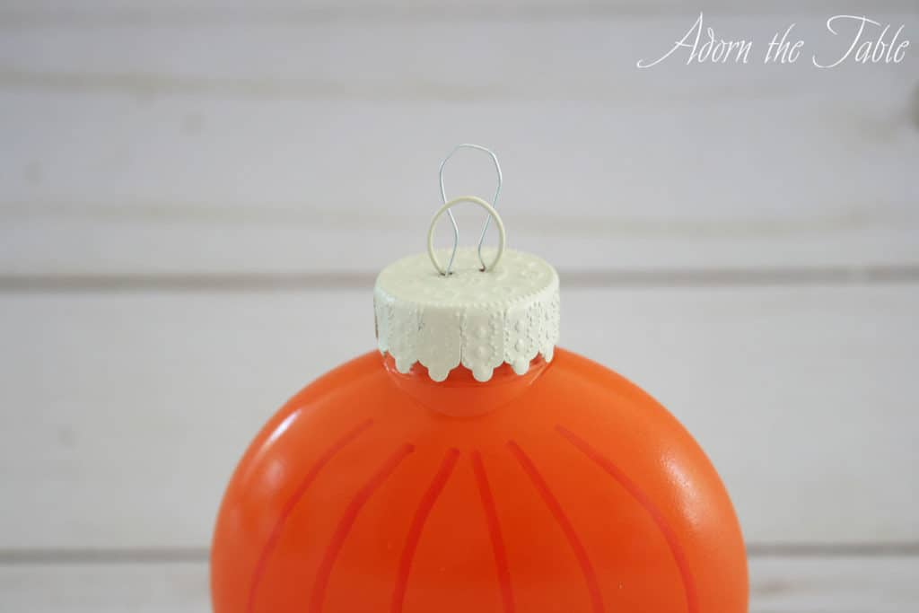 Paper clip added to ornament top